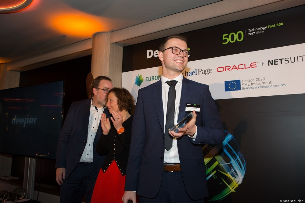Deeper becomes 1st company from Baltics to make top 10 in Deloitte's Fast 500 for EMEA